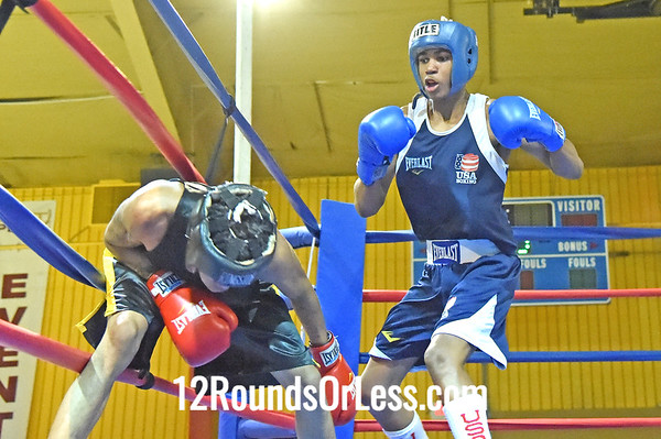 Bout 11 Delante Johnson, Blue Gloves, MLK/Premier -vs- Ryzemmion Ford, Red Gloves, Common Ground BC, 132 lbs, OPEN, 3 Min Rds
