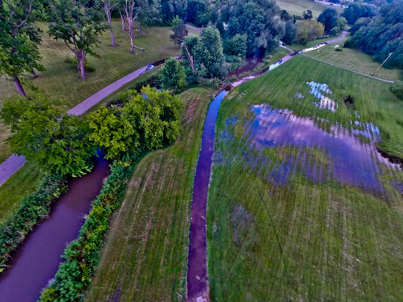 Summer Sunset at the Park 4 : Aerial Photography from Project Aerospace