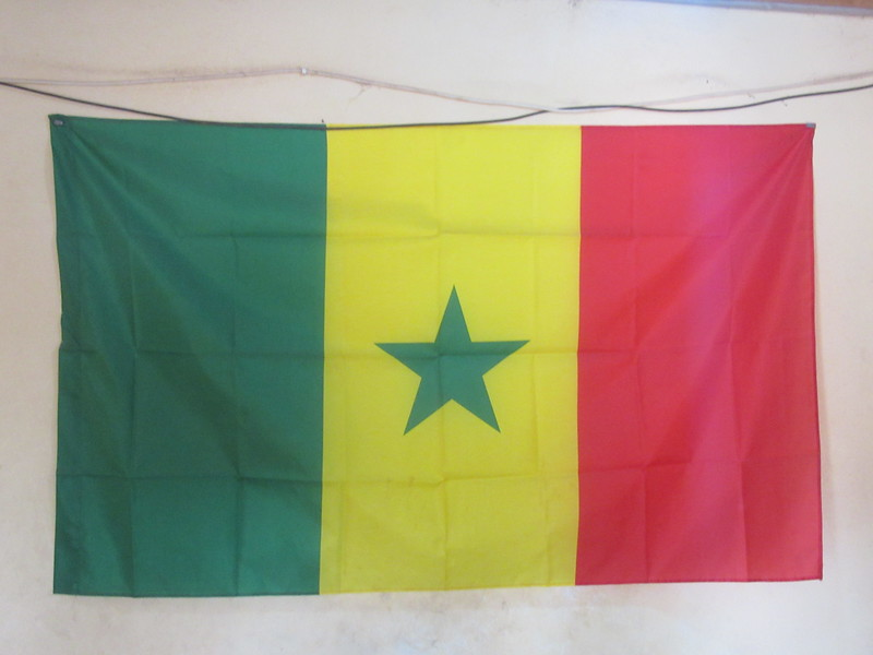 003_Casamance. Le Drapeau du Sénégal.JPG