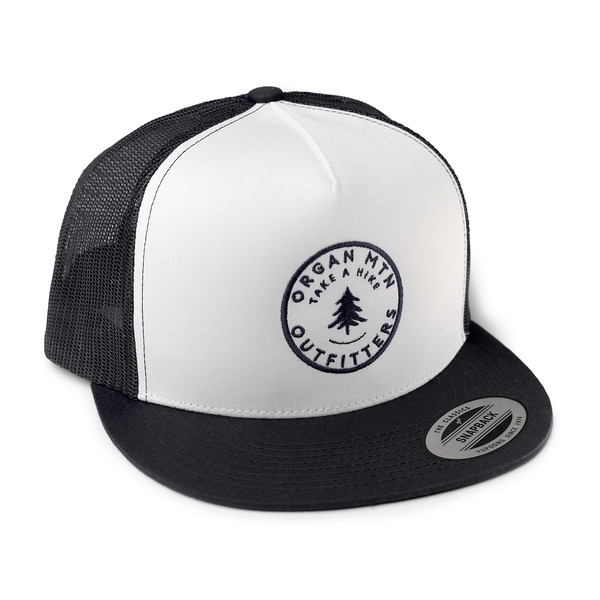 Outdoor Apparel - Organ Mountain Outfitters - Hat - Take A Hike Trucker Cap - Black White Black.jpg