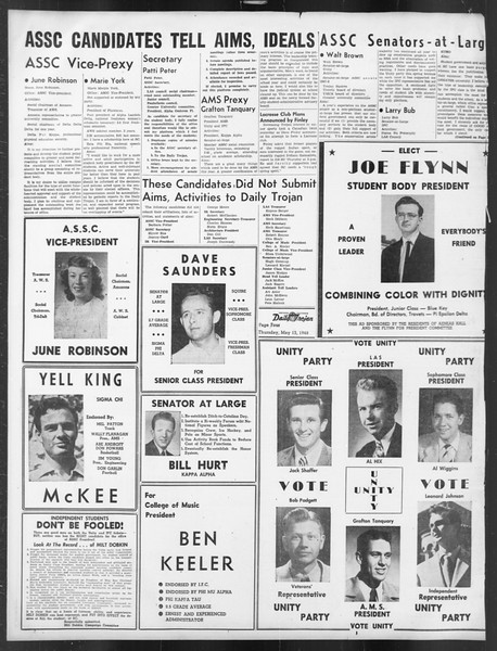 Daily Trojan, Vol. 39, No. 139, May 13, 1948