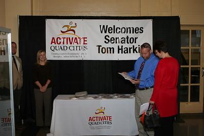 Senator Tom Harkin-Visit 102208