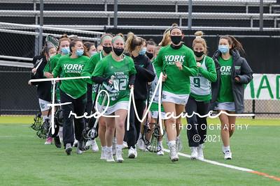 4/17/2021 York College Women's Lacrosse (Senior Day) vs Eastern