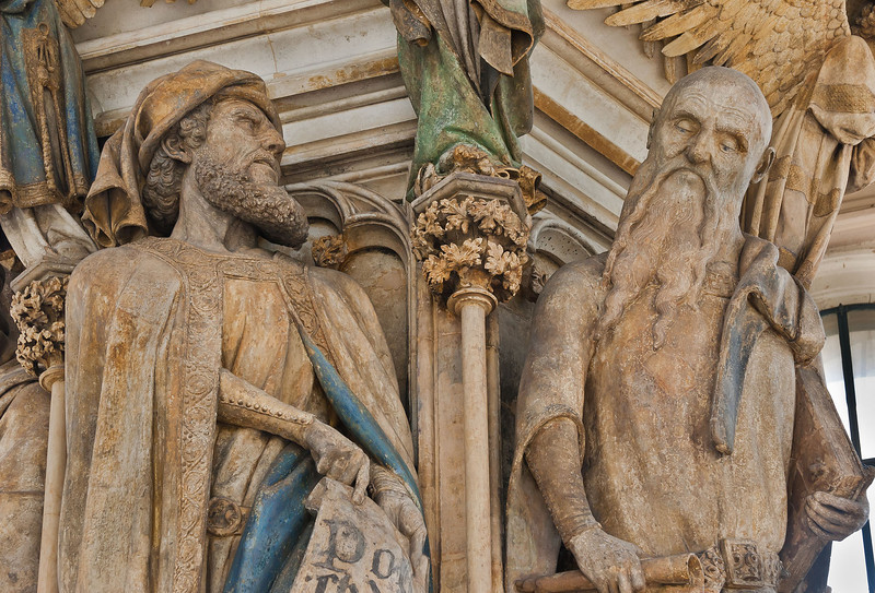 Dijon, Kartause. Mosesbrunnen: Daniel und Jesajas