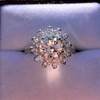 2.87ctw old European Cut Diamond Spray Ring GIA J SI1 19