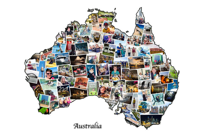 Australian Holiday Collage