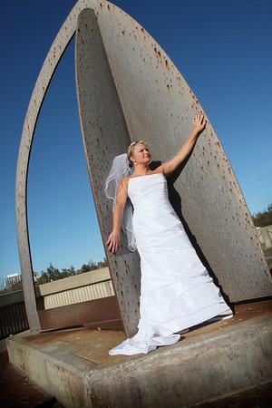 Christy and Anthony Trash The Dress 11/16/08 South Tulsa and Riverside Bridge