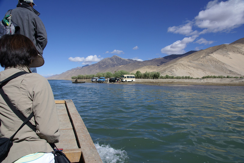 Approaching Samye landing on monastery (north) side of Yarlung.