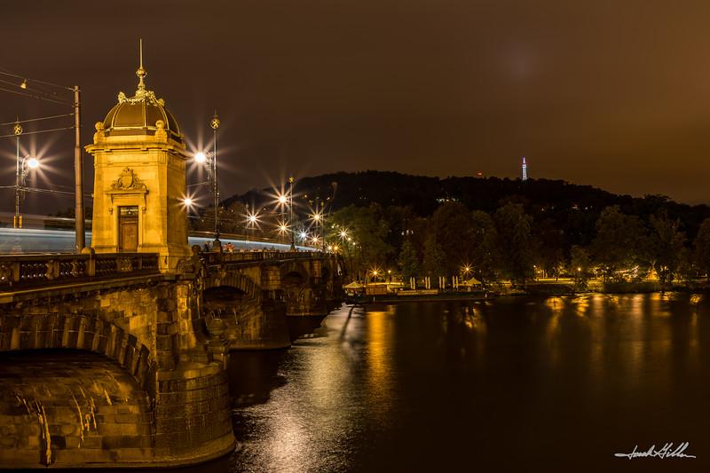 Charles Bridge evening glow