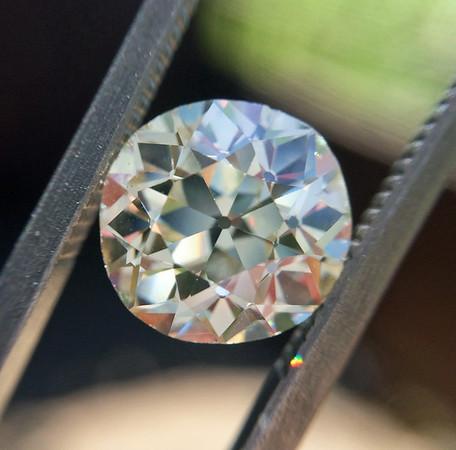 2.20ct European Cut Diamond, AGS O, VS2