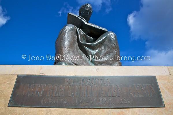 CEUTA (Spain). Joseph Ben Yehuda Ibn-Aknin, philosopher, monument (3.2016)
