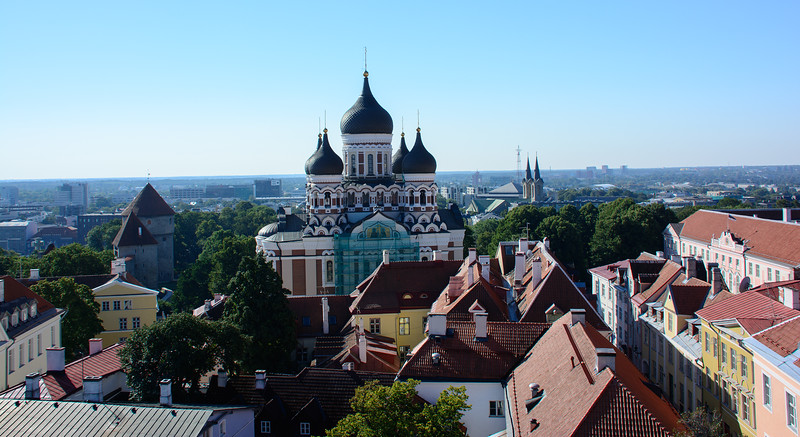 Looking out over the Alexander Nevsky Cathedral
