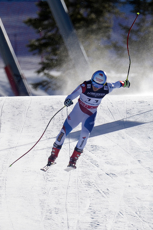 . BEAVER CREEK, CO - FEBRUARY 08: Mauro Caviezel of Switzerland competes during the men\'s alpine combined final. FIS Alpine World Ski Championships 2015 on Sunday, February 8, 2015. (Photo by AAron Ontiveroz/The Denver Post)