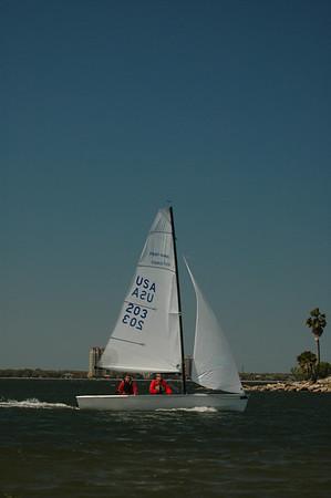 Mark H and Bob sailing in.