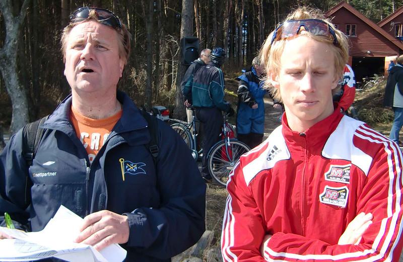 Imre Banfi og Petter Johansen fra Fredrikstad Roklub
