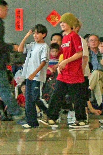 Simon and Jesse at CAIS New Year pageant.