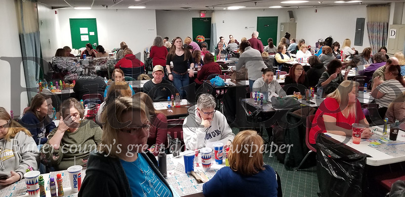 Here is a crowd shot of Litter Box Bingo