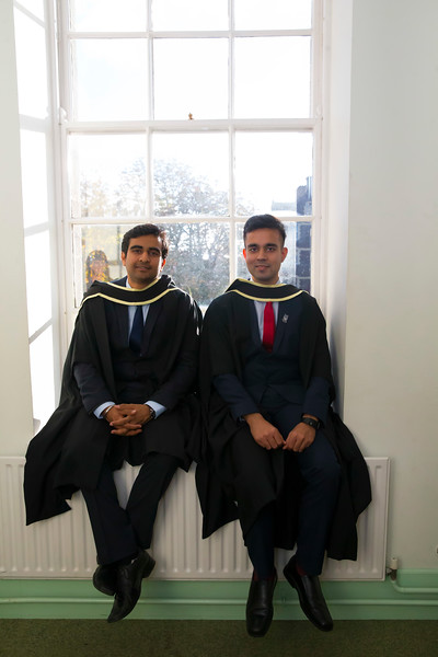 01/11/2018. Waterford Institute of Technology (WIT) Conferring Ceremonies 2018. Pictured is Lakshya Sharma India and Venkatesh Dixit India. Picture: Patrick Browne