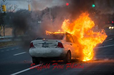 Mastic Car Fire William Floyd Parkway [1.19.16}