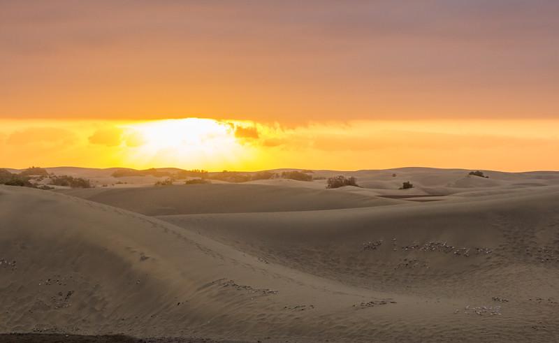 Sunrise over Maspalomas Dunes