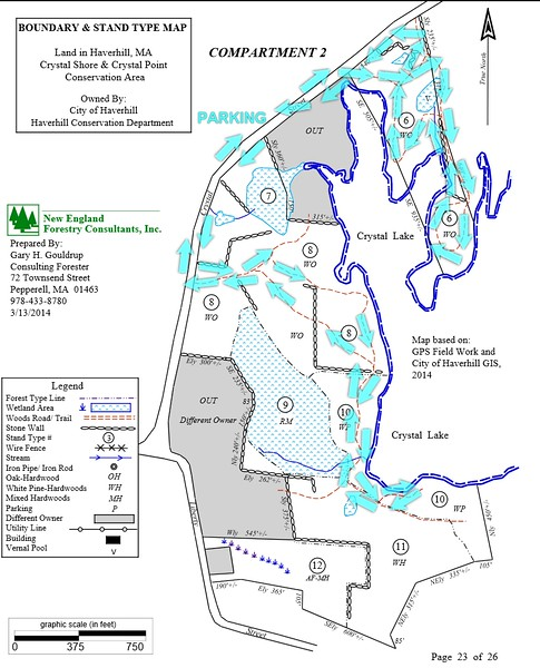 Map of Crystal Shores and Crystal Point Trails