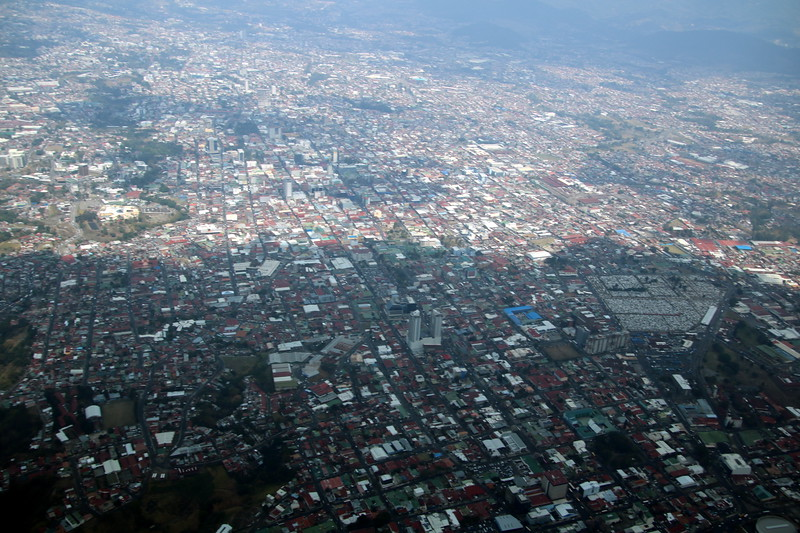 Aerial View of San Jose, Costa Rica