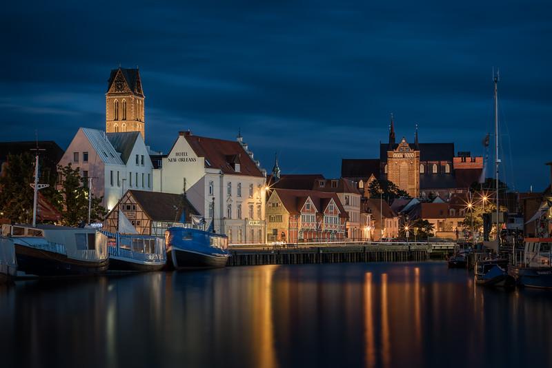 Blick auf die Innenstadt von Wismar