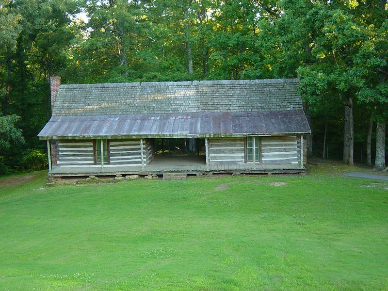 Dogtrot house at Britton Lane Battlefield