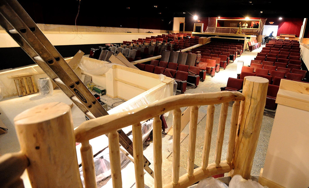 . A view of construction being completed in The Cave Theater in Big Bear Lake May 6, 2013.  The music venue, which was originally a movie theater, is set for a grand re-opening for June 7.  GABRIEL LUIS ACOSTA/STAFF PHOTOGRAPHER.