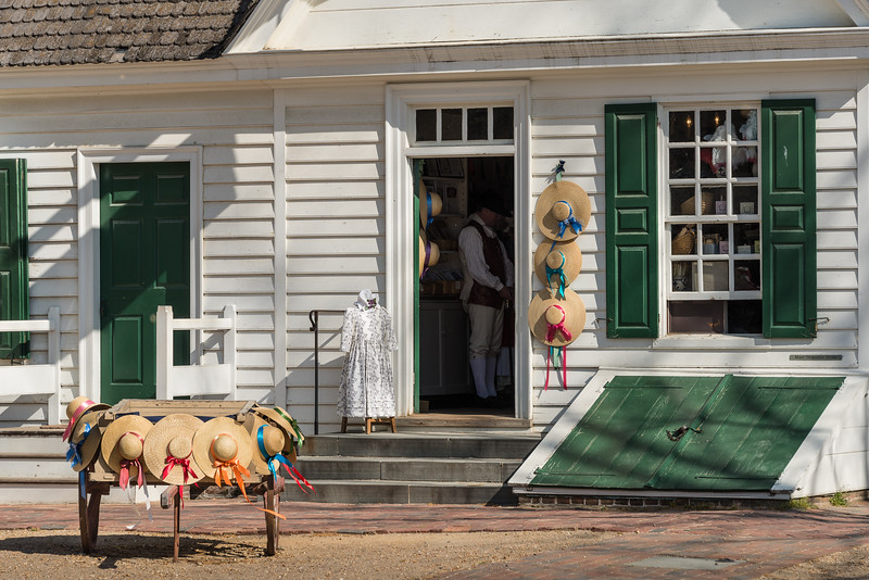 Colonial Shops and Merchants with Period Re-Enactors