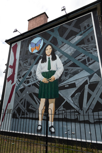 The Death of Innocence � depicting Annette McGavigan, a 14-year old schoolgirl gunned down in 1971, Free Derry, Londonderry, Northern Ireland, United Kingdom