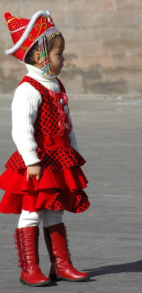Little Chinese Princess in Red - Beijing, China