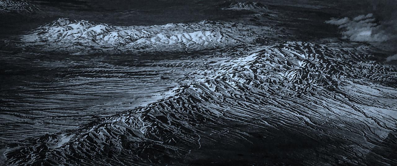 雪山林立,来自高空摄影