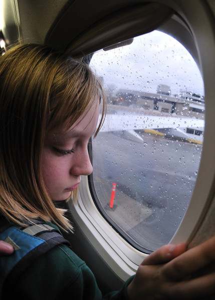 Looking out the window at the rain