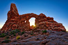 Sunset at the Turret Arch -  Arches National Park, Utah