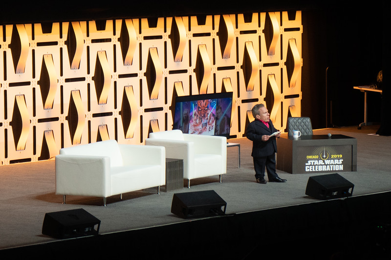 Warwick Davis was the host for the  Celebration Stage at Wintrust Arena