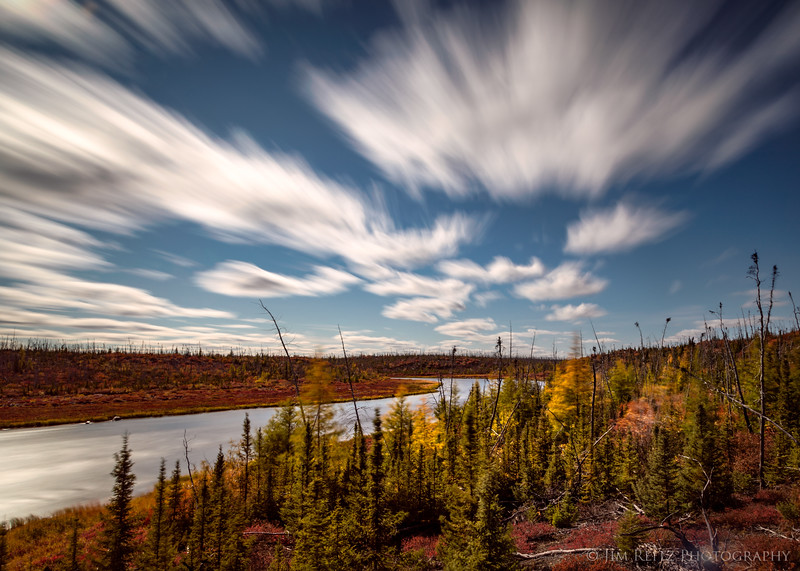 Long-exposure, Kazan River - Nunavut Territories