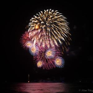 Honolulu Festival Nagaoka Fireworks Waikiki Beach  3-10-2019