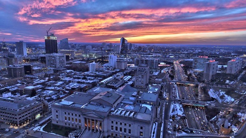 Colorful Philly Sunset Skyline Jan 2016  (1).jpg