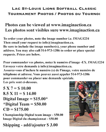 Tournoi Fastpitch Lac St-Louis