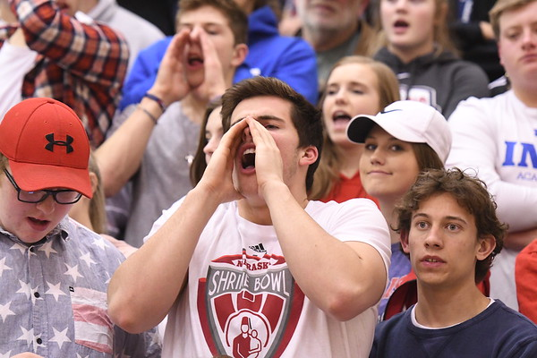 Student Crowd - Platteview District Basketball game