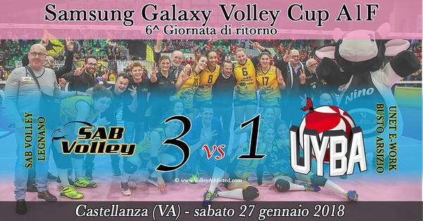 6^ rit: SAB Volley Legnano - Unet E-Work Busto Arsizio