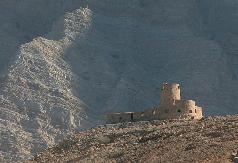castle on the coast, south of Khasab
