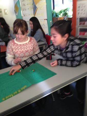 Grade 6 Creates Board Games and Visits Grade 5