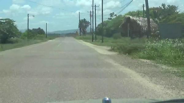 Belize City Hopkins 150823 Road Warning