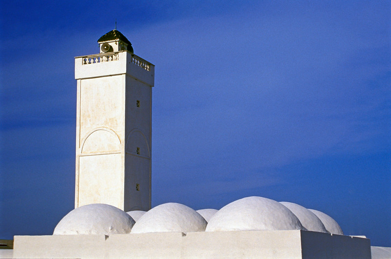 Typical Whitewashed Mosque, Tunisia