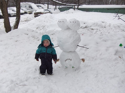 2013-02-03, Snowman up side down