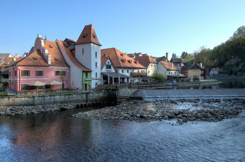 More houses near the Vltava River - Cesky Krumlov, Czech Republic