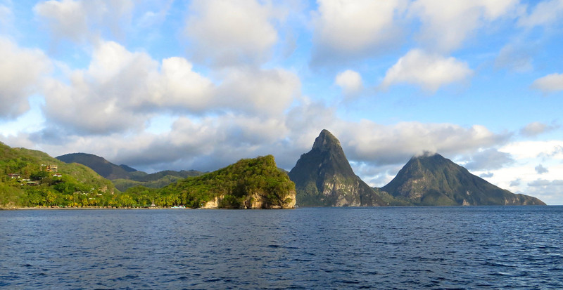 More gorgeous views of the Pitons -St. Lucia