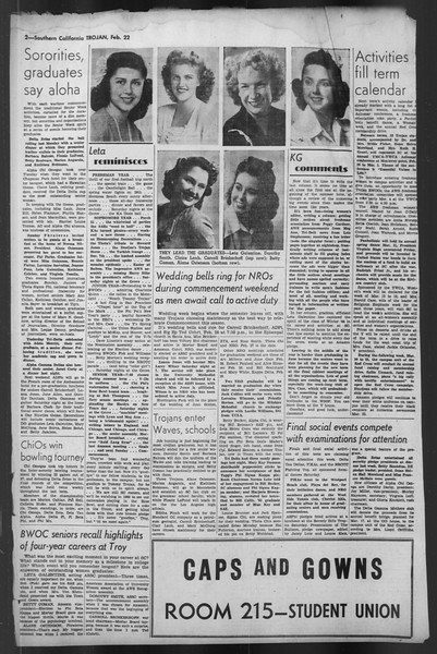 The Trojan, Vol. 35, No. 88, February 22, 1944